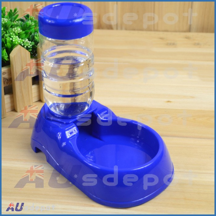 Pet Doggie Dog Car Drinking Water Fountain Bottle Feeder Stand