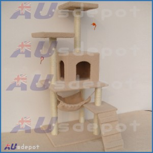 New Arrival! 127cmx46cmx46cm, Levels Cat Scratching Playing Post/ Cat Tree