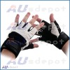 GYM GLOVES WEIGHT LIFTING LEATHER WORKOUT WRIST SUPPORT GLOVE JACKED FIBRES