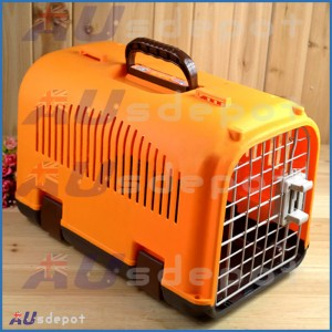 New Pink Red dog cat rabbit airline travel portable plastic cage carrier bag house crate